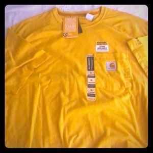 Carhartt-  NWT yellow T-shirt- pocket size XL